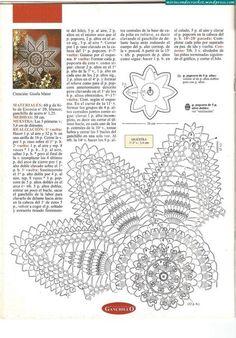 Crochet doily. Pattern.