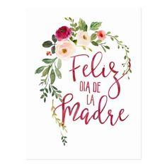 Postal Guirnalda de Feliz Dia De La Madre Flower