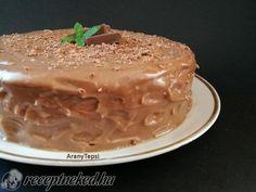 Egyszerű mogyorókrémes torta Cake Cookies, Nutella, Peanut Butter, Pudding, Food, Eten, Puddings, Meals, Nut Butter