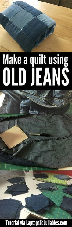 Laptops to Lullabies: DIY quilt made from old jeans
