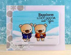 Kraftin' Kimmie Stamps Beary Big Hugs, Copic