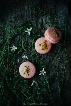 So pretty!  Cherry Blossom Macarons   My Blue&White Kitchen
