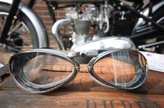 34a15a2729d Aviator Retro Standard Goggles - Black Pneumatic Rubber