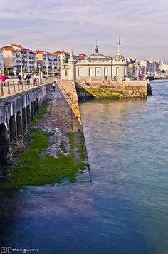 Waking by the promenade. Santander, Spain.