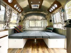 Airstream Dinette Down Into Master Bed