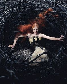 Alexander McQueen Fall/Winter 2008 Campaign shot by Craig McDean featuring Alice Gibb #photography #fantasy