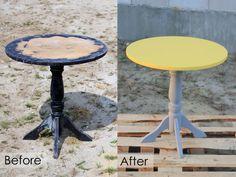 Odnowiony stolik – DIY   Budowa marzeń