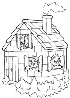 Three Little Pig Coloring Pages New 🎨 Three Little Pigs 13 Kizi Free Coloring Pages for House Colouring Pages, Disney Coloring Pages, Coloring Pages To Print, Free Coloring, Coloring Pages For Kids, Adult Coloring, Coloring Books, Coloring Worksheets, Three Little Pigs Story