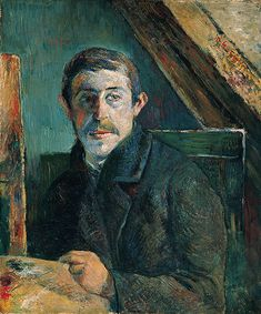 Self-Portrait by Paul Gauguin, 1885 TITLE:(Français:Gauguin devant son chevalet Català: Gauguin davant el seu cavallet English: Self-Portrait) Date: 1885 Medium:oil on canvas