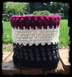 A chunky basket is a great way to store all kinds of things. make this woven-look basket with Lion Brand Hometown USA! Get the free pattern by Love Knit Design now on Ravelry.