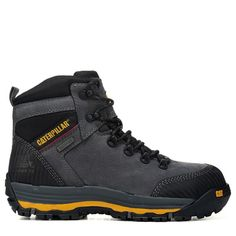 Caterpillar Men's Munising Waterproof Composite Toe Work Boots (Dark Shadow Leather) - W Vintage Shoes Men, Caterpillar Shoes, Men's Shoes, Shoes Sneakers, Watch Belt, Composite Toe Work Boots, Steel Toe Shoes, Fashion Boots, Designer Shoes