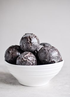 "Glazed Chocolate Cake Donut Holes. These fall into the category of ""I really shouldn't, but I really want to!"""