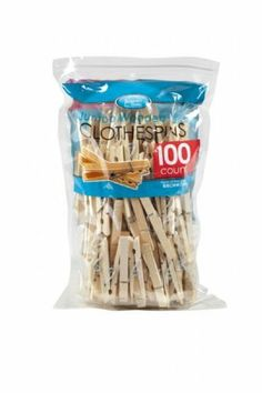 Kennedy Home Collections Wooden Pegs - 100 Count by Kennedy Home Collections. $10.39. Spring wire is resistant to rust. Made of non-staining birch wood. Jumbo clothes pins with non slip grip ends. Jumbo wooden clothes pins made of fine-grained birch wood. Non slip grip ends and rust resistant galvanized spring wire. Non- staining wood. Great for hanging clothes, arts and crafts.