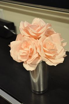 D.I.Y. Coffee filter roses. AKtion Speaks [Wedding Edition]: DIY Project: Flowers