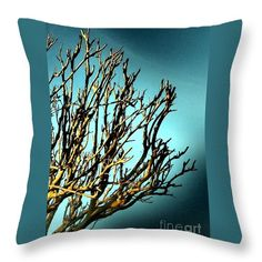 Throw Pillow featuring the photograph Branches Of The Mulberry by Dora Hathazi Mendes #mulberry #throwpillow #dorahathazi
