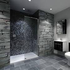 Badezimmer Mit Begehbarer Dusche Betonoptik Und Gemauertes Regal | Haus |  Pinterest | Betonoptik .
