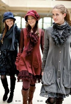 ruffled coats  la violine--totally see Holland in these!