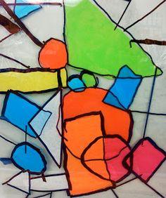 Candice ashment arte: DIY Vitral com papel de seda - segundo projeto Grade