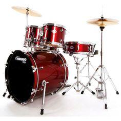 Mapex Tornado 20-Inch Fusion Drum Kit, Dark Red. #mapex #drumkit