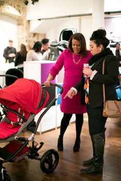Britax Affinity Stroller Launch Event in NYC #bloggers #moms #style #red