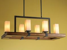 rustic rectangular chandelier - Google Search