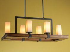 rustic rectangular chandelier - Google Search