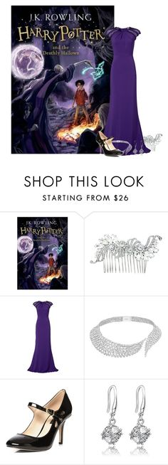 """Harry Potter and the Deathly Hallows - J.K. Rowling"" by ninette-f ❤ liked on Polyvore featuring Badgley Mischka, Messika and Dorothy Perkins"