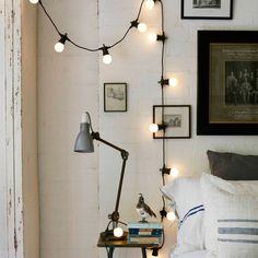 Guirlande Guinguette Raccordable avec 20 Globes LED Blanc Chaud, Type U de Lights4fun: Amazon.fr: Luminaires et Eclairage