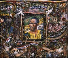 Oliver Tambo by Willie Bester - Pigozzi Collection 2014 - Contemporary African Art Collection Awesome Art, Cool Art, Contemporary African Art, South African Artists, Black Artists, Art History, American, Creative, Painting
