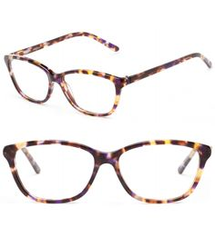 A modern cat eye with pops of purple, gold and brown | The Rose | felix + iris eyewear