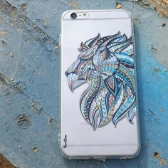 LION & CO. TYPE 2 - A beautiful highly detailed side view of the lion's face filled with soothing pastel colors throughout. Come shop with us at http://www.flavorcases.com/collections/animals?page=1