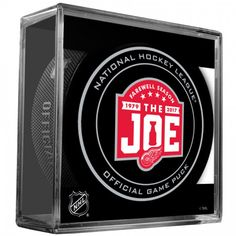 2017 NHL Detroit Red Wings - Farewell Season The Joe Official Game Puck with…