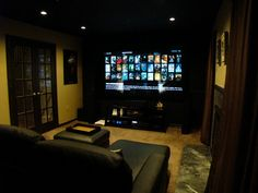 Small Room Conversion To Home Theater | LandSharku0027s Small Yet Cozy Home  Theater Thread.