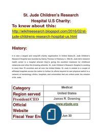 St. Jude Children's Research Hospital U.S Charity