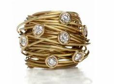bird's nest jeweled ring