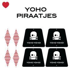 Piraten traktatie printable Yoho piraatjes! Ben jij een stoere piraat en ben jij binnenkort jarig dan is deze piraten traktatie ontworpen door Jetjes & Jobjes voor jouw. En het leuke is, hij is direct te downloaden.  De printbare knipvellen zijn eenvoudig samen te stellen! Gewoon de PDF file openen,
