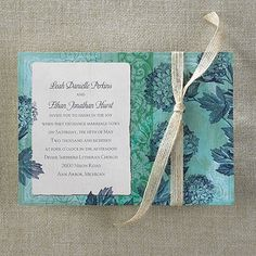 Antique+Hydrangea+-+Invitation