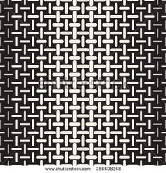 Vector Black and White Rounded Dash Lines Halftone Gradient Lattice Geometric Pattern Abstract Background