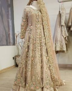 For more information 03348511719 We can Customize any outfit the way you want including Color, Size, Embroidery, Embellishments, Designs… Walima Dress, Shadi Dresses, Pakistani Formal Dresses, Pakistani Wedding Outfits, Pakistani Wedding Dresses, Bridal Outfits, Indian Dresses, Pakistani Clothing, Wedding Hijab