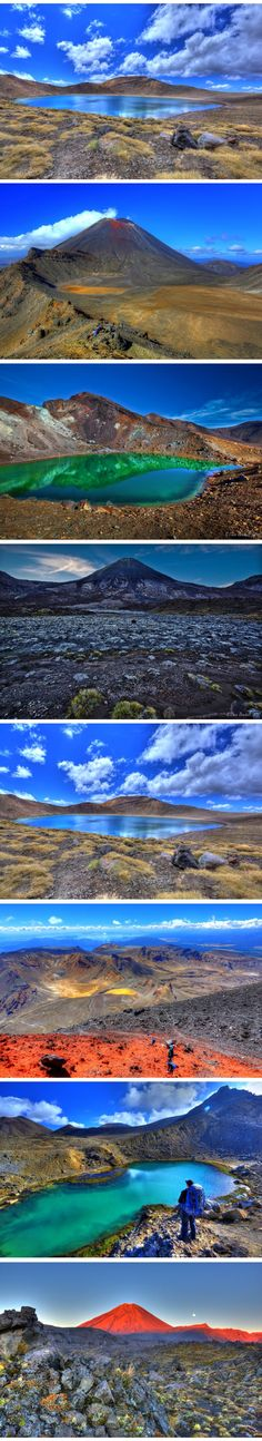 Perfect Day at the Tongariro Alpine Crossing, North Island. I´ve never seen something like this before.