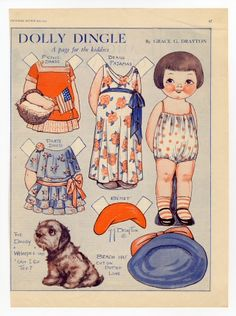 82.304: Dolly Dingle | paper doll | Paper Dolls | Dolls | National Museum of Play Online Collections | The Strong