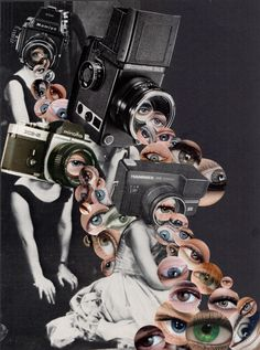 surrealist collage in text and image relationship