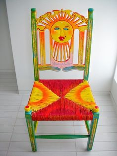 Hand Painted Chair by Sid Daniels  Like the idea of hand painted chair - would choose another picture, though