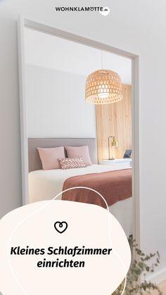 Das Schlafzimmer ist der wichtigste Raum in Deinem Zuhause, denn es ist Deine persönliche Ruheoase. In diesem Beitrag geben wir Dir deshalb hilfreiche Tipps, wie Du auch ein kleines Schlafzimmer einrichten kannst und dabei den Raum optimal ausnutzt. Furniture, Home Decor, Helpful Tips, Room Interior Design, Home Decor Accessories, Bed, Ad Home, Homes, Decoration Home