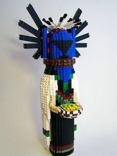 Hopi Kachina doll made out of Legos