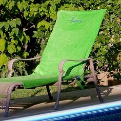 Lounge Chair Cover ~ for after graduating from grad school! ;-)