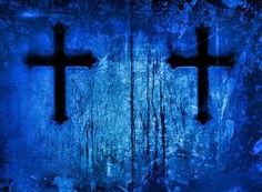 Crosses from a tomb in Paris colored in cobalt blue. Blue is the third primary color. It spiritually signifies the healing power of God. Love Blue, Color Blue, Colour, Purple Cross, Three Primary Colors, Yellow Moon, Blue Art, My Favorite Color, Cobalt Blue