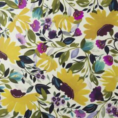 vivid floral spring floral by Clarke & Clarke. The wallpaper print is called Ariadne's Dream by Kim Parker from her Artbook collection. Pretty Patterns, Beautiful Patterns, Flower Patterns, Textile Patterns, Textile Prints, Textiles, Motif Floral, Floral Design, Floral Prints