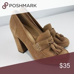 Levity Naomi Chunky Heel Loafers with Tassels Levity Naomi loafer chunky heel with tassel detail. Minimal wear on the bottoms (pictured), but the rest of the shoe is in perfect condition. Size 6. 4 inch heels. Levity Shoes Heels