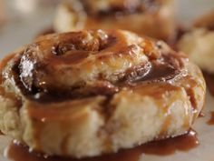 Get Cinnamon Roll Biscuits with Sweet Tea Caramel Recipe from Food Network